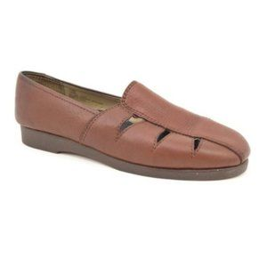 Softspots Brown Leather Loafers Flats